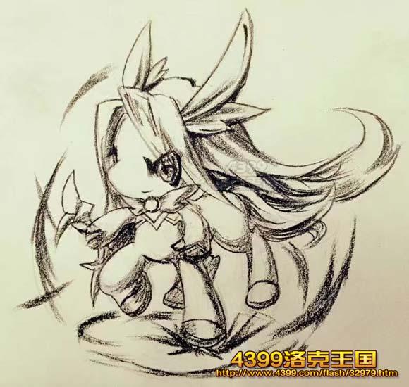 洛克王国手绘之星辰宝宝