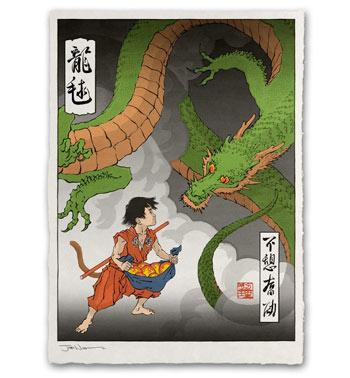 浮世绘画风游戏动漫角色