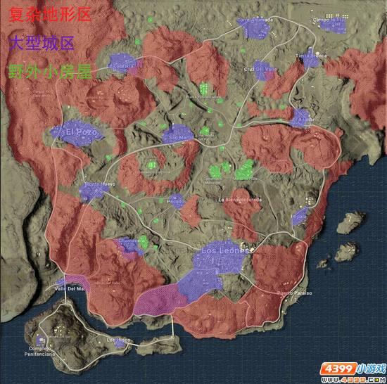 绝地求生沙漠地图