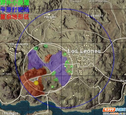 绝地求生沙漠地图复杂地形