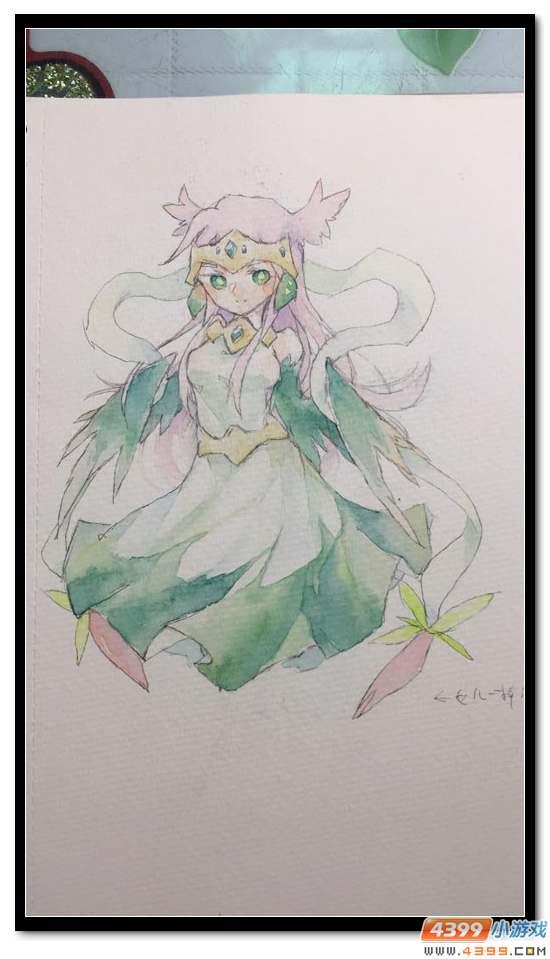 赛尔号手绘 美丽的仙化灵龙