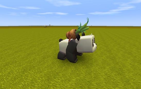 迷你世界熊猫驯服