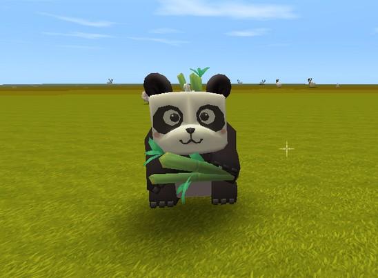 迷你世界熊猫抱竹子