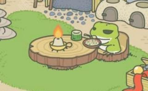 旅行青蛙吃饭