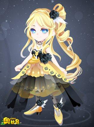奥比岛金色美人装