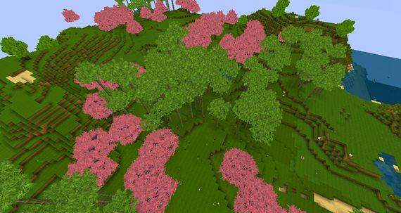 迷你世界竹林地形码 竹林盆地种子