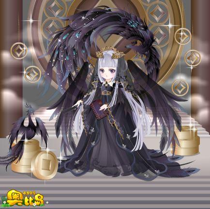 奥比岛黑凤凰灵妖装