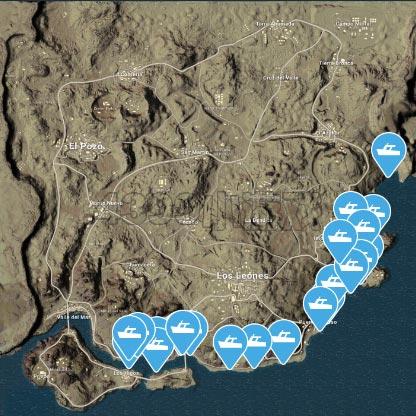 絕地求生沙漠地圖刷船點