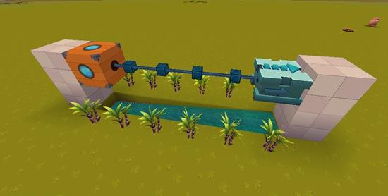 迷你世界全自动收甘蔗机教程