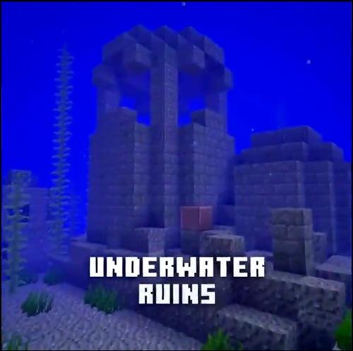 我的世界海底废墟 我的世界手机版海底遗迹即将更新