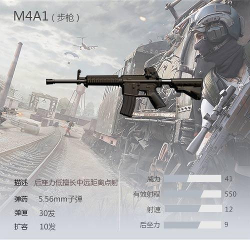 荒野行动M4A1步枪解析