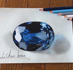 日本天才少年展现惊天画技 用铅笔画出逼真宝石