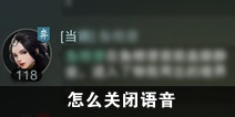 一梦江湖怎么关闭自动语音