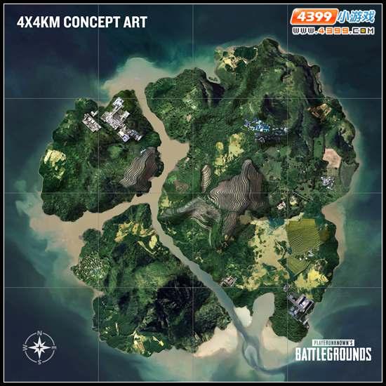 绝地求生新地图资源分布 海岛地图资源点解析