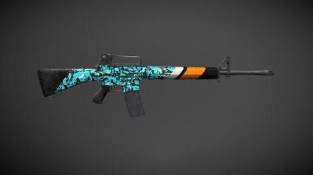 绝地求生刺激战场M16A4蓝宝石皮肤怎么样