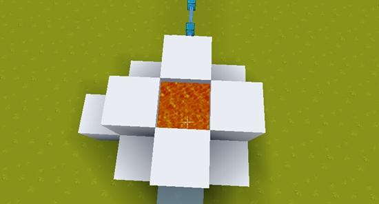 迷你世界简易刷石机教程 地面刷石机
