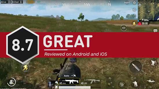 《绝地求生》手游IGN 8.7分:一向了不起的技术成就