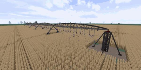 大神在《我的世界》中玩农场模拟器 超壮观的自动灌溉器