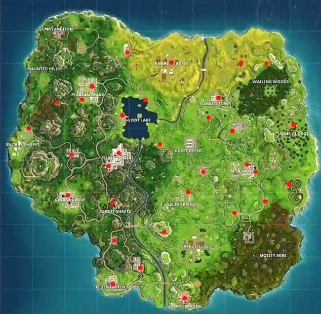 堡垒之夜手游自动贩卖机上线 全地图刷新位置整理