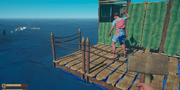 航海版《方舟生存进化》 多人海上生存游戏《木筏生存》简中曝光