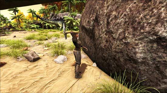 方舟生存进化石头采集
