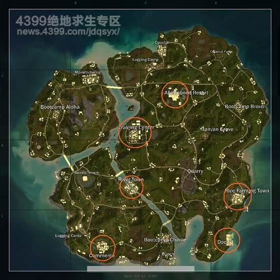 绝地求生savage资源点 savage资源地图