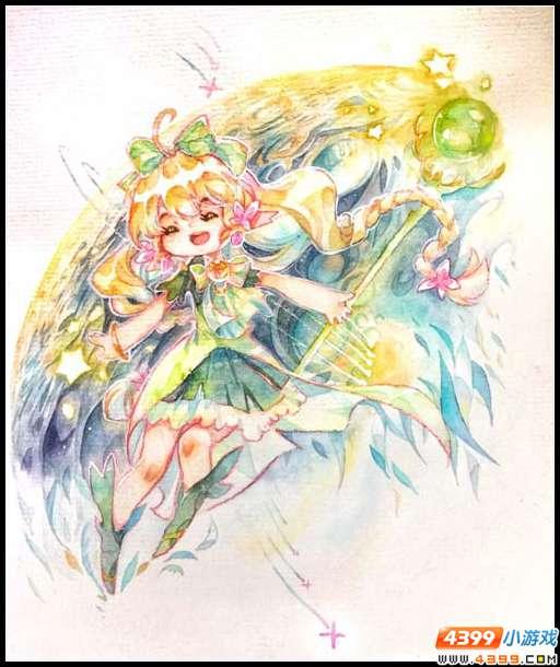 赛尔号手绘 茉蕊儿的天体