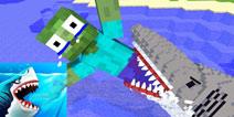 【怪物学园】我的世界钓到一条大鲨鱼