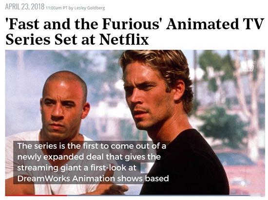 《速度与激情》将推出动画版本 这次的主角是他