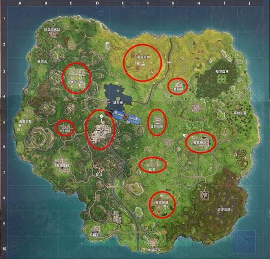 堡垒之夜手游新人跳伞教学 各个落点推荐解析