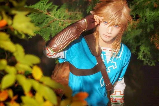 日本美少男cos《塞尔达传说:荒野之息》林克 还原度超高图片