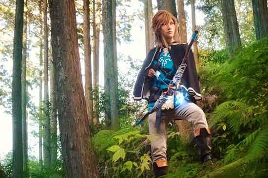 日本美少男Cos《塞尔达传说:荒野之息》林克 还原度超高