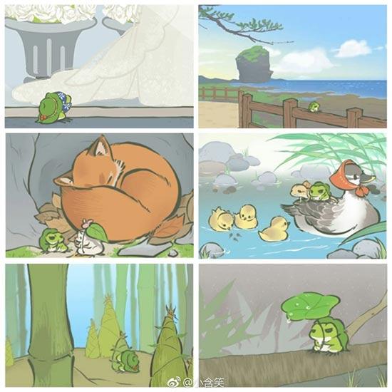 《旅行青蛙:中国之旅》明信片曝光 嘤酱竟然好多都认不出来