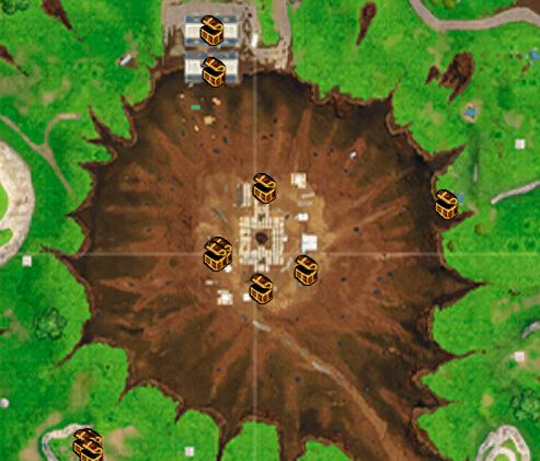 堡垒之夜手游新地图全资源点解析 第4赛季地图介绍