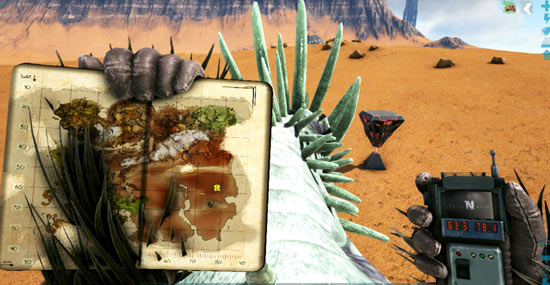 方舟生存进化沙漠宝箱刷新位置