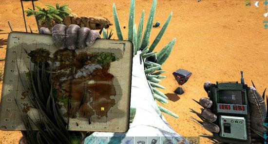 方舟生存进化沙漠宝箱在哪