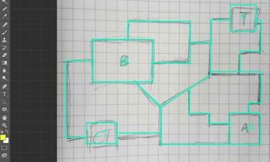 CF手游爆破地图2D线路图