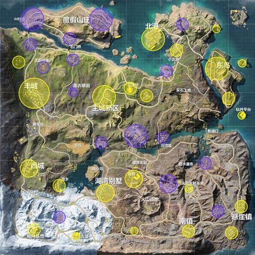 荒野行动飓风半岛地图资源分布
