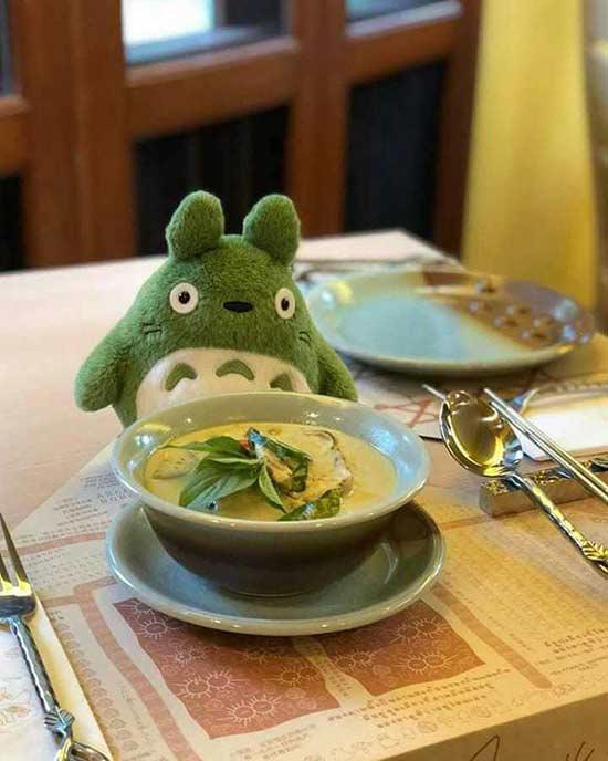 世界上首家官方授权的龙猫主题餐厅太诱惑人了