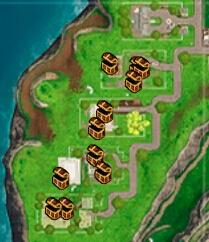堡垒之夜海景别墅资源介绍 落点搜索路线解析