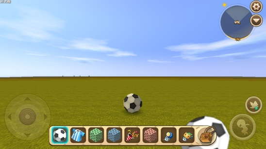 迷你世界先遣服安卓版放置足球