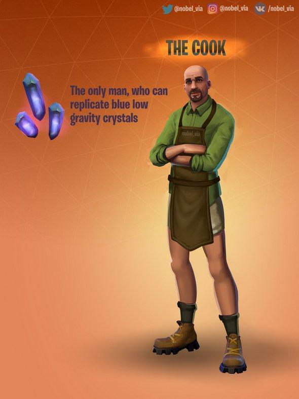 堡垒之夜手游原创同人:厨师
