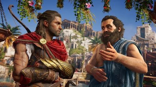 《刺客信条:奥德赛》中与苏格拉底对话