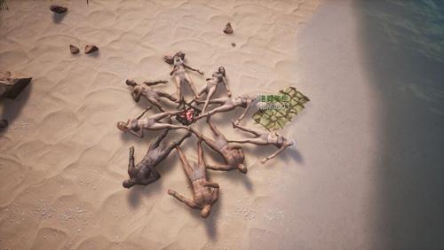"""《蛮王柯南》沙滩上""""躺尸""""的玩家"""