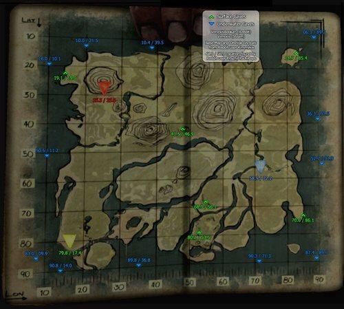 方舟生存进化矿洞地图在哪