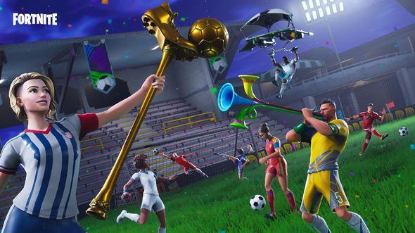 堡垒之夜手游官方海报:足球系列