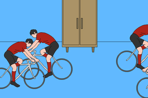 《妈妈把我的游戏藏起来了》家里竟然有骑着自行车的运动员?