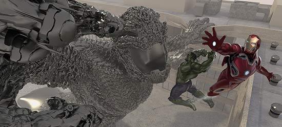 《复仇者联盟2》被弃方案概念图曝光