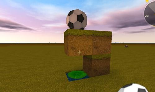 迷你世界弹动浮空足球装饰2