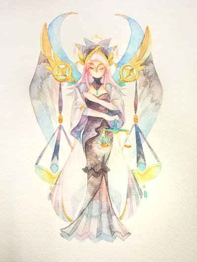 赛尔号手绘 天秤的莉布拉
